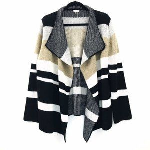 Sioni Open Front Color Block Cardigan size XL